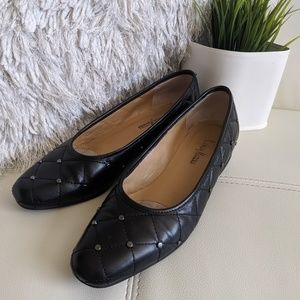 Shoes - Vintage Neiman Marcus quilted studded loafers
